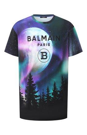 Мужская хлопковая футболка BALMAIN разноцветного цвета, арт. UH11060/I320 | Фото 1