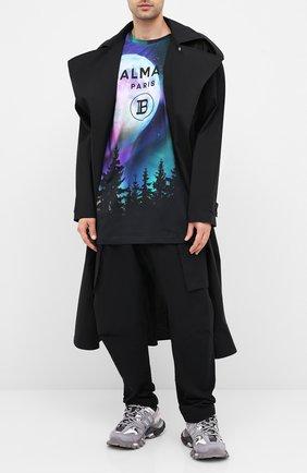 Мужская хлопковая футболка BALMAIN разноцветного цвета, арт. UH11060/I320 | Фото 2