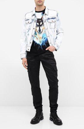 Мужская хлопковая футболка BALMAIN разноцветного цвета, арт. UH11601/I300 | Фото 2