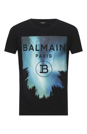 Мужская хлопковая футболка BALMAIN разноцветного цвета, арт. UH11601/I303 | Фото 1