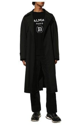 Мужской шерстяной свитер BALMAIN черного цвета, арт. UH13405/K005 | Фото 2