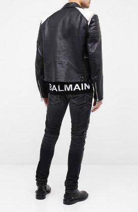 Мужской шерстяной джемпер BALMAIN черного цвета, арт. UH13407/K008 | Фото 2
