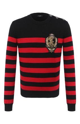 Мужской свитер из шерсти и хлопка BALMAIN разноцветного цвета, арт. UH13432/Z550 | Фото 1