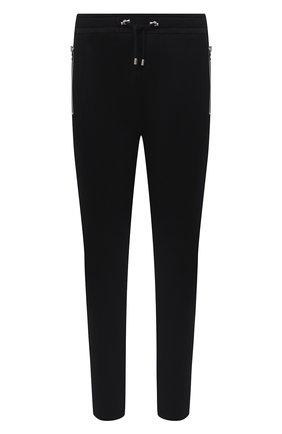 Мужской хлопковые брюки BALMAIN черного цвета, арт. UH15462/I364 | Фото 1