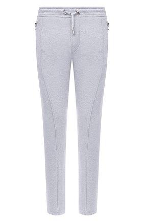 Мужской хлопковые брюки BALMAIN серого цвета, арт. UH15462/I364 | Фото 1