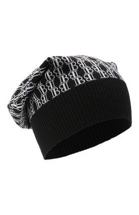 Мужская шерстяная шапка BALMAIN черно-белого цвета, арт. UH1A600/K026 | Фото 1