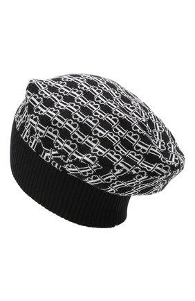 Мужская шерстяная шапка BALMAIN черно-белого цвета, арт. UH1A600/K026 | Фото 2