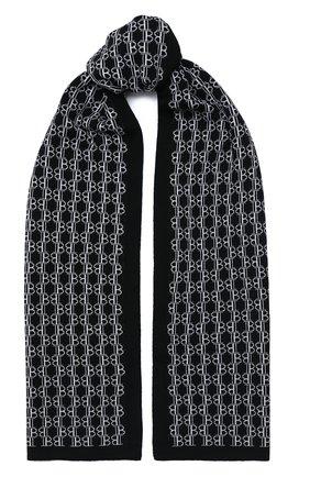 Мужской шерстяной шарф BALMAIN черно-белого цвета, арт. UH1A602/K026 | Фото 1