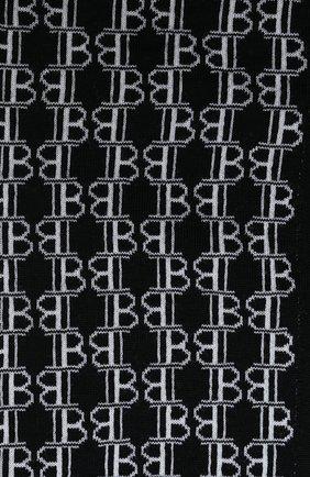Мужской шерстяной шарф BALMAIN черно-белого цвета, арт. UH1A602/K026 | Фото 2