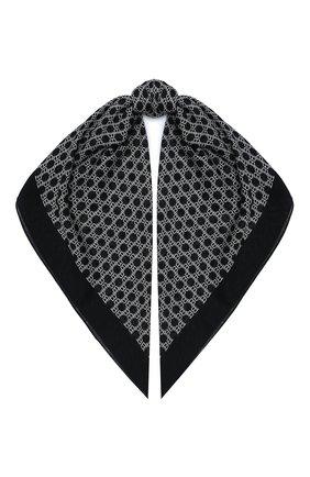 Мужской шарф из шерсти и шелка BALMAIN черно-белого цвета, арт. UH1A606/I600 | Фото 1