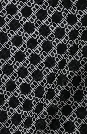 Мужской шарф из шерсти и шелка BALMAIN черно-белого цвета, арт. UH1A606/I600 | Фото 2