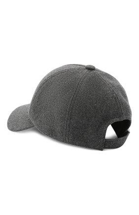 Мужской шерстяная бейсболка BALMAIN серого цвета, арт. UH1A612/W072   Фото 2