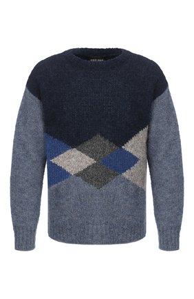 Мужской шерстяной свитер GIORGIO ARMANI синего цвета, арт. 6HSM25/SM33Z | Фото 1