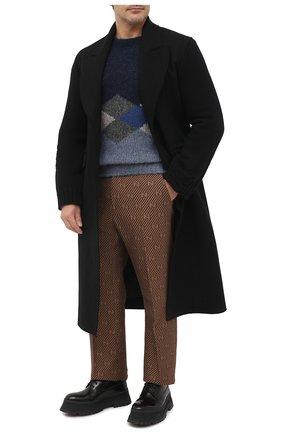 Мужской шерстяной свитер GIORGIO ARMANI синего цвета, арт. 6HSM25/SM33Z | Фото 2