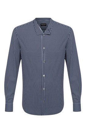 Мужская рубашка GIORGIO ARMANI темно-синего цвета, арт. 0WGCCZ44/TZ686 | Фото 1