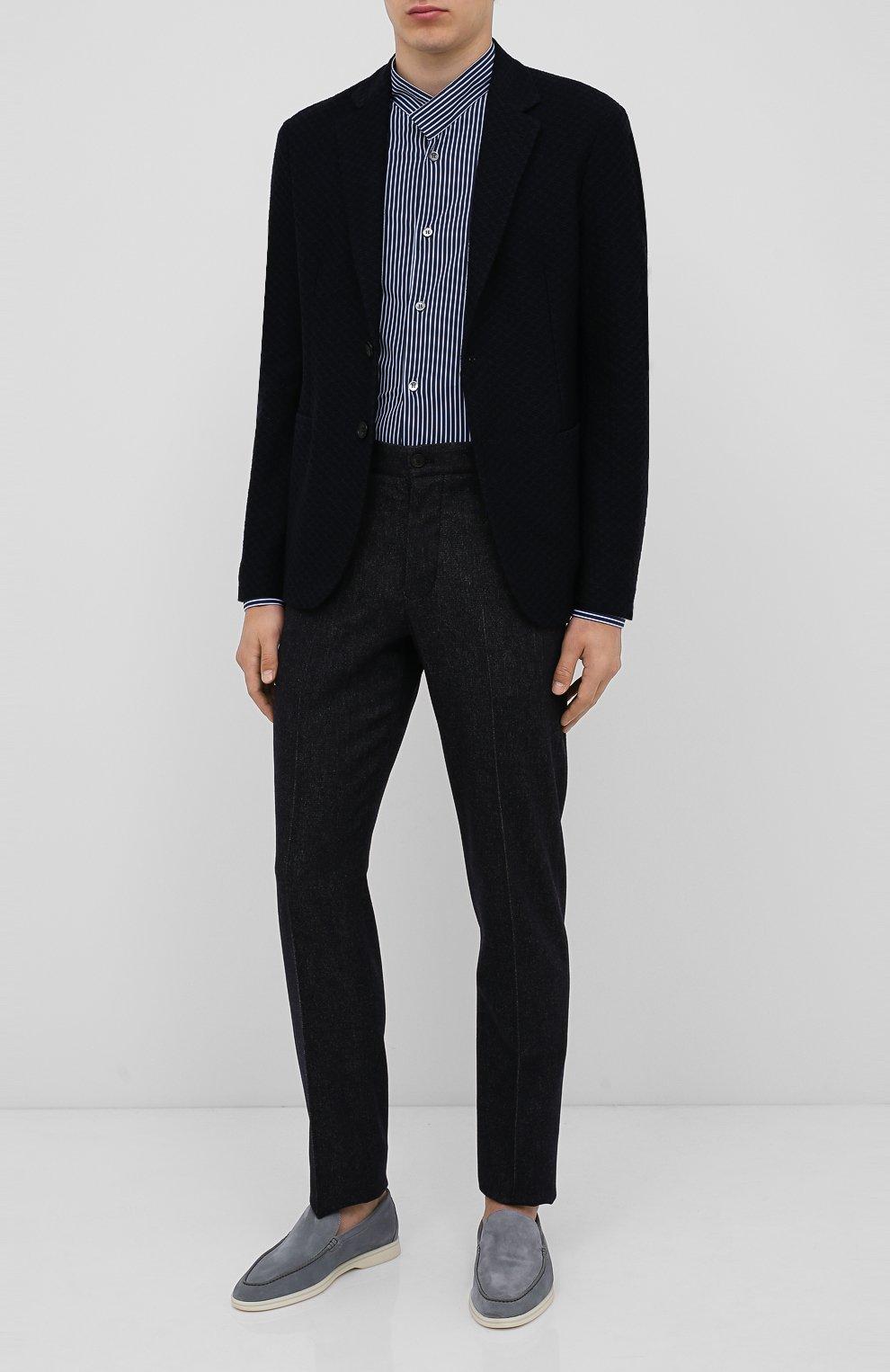 Мужская рубашка GIORGIO ARMANI темно-синего цвета, арт. 0WGCCZ44/TZ686 | Фото 2