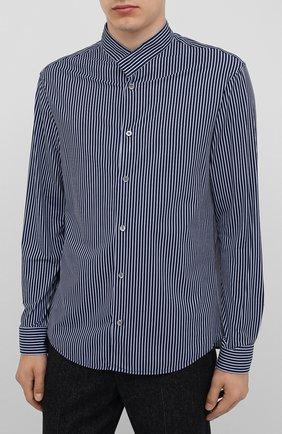 Мужская рубашка GIORGIO ARMANI темно-синего цвета, арт. 0WGCCZ44/TZ686 | Фото 3