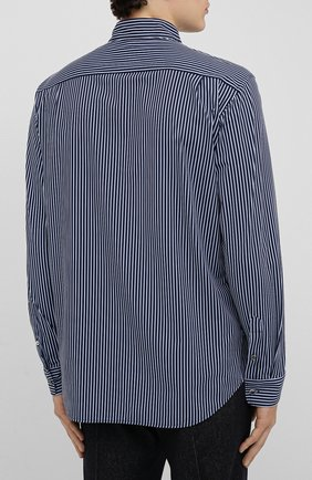 Мужская рубашка GIORGIO ARMANI темно-синего цвета, арт. 0WGCCZ44/TZ686 | Фото 4