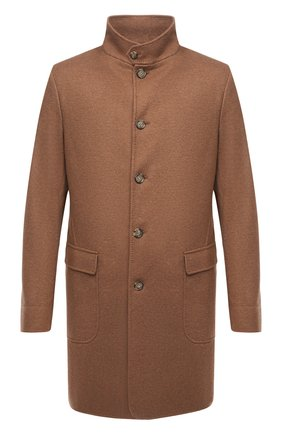 Мужской кашемировое пальто LORO PIANA темно-бежевого цвета, арт. FAF4702 | Фото 1