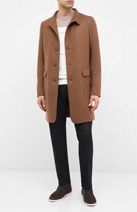 Мужской кашемировое пальто LORO PIANA темно-бежевого цвета, арт. FAF4702 | Фото 2