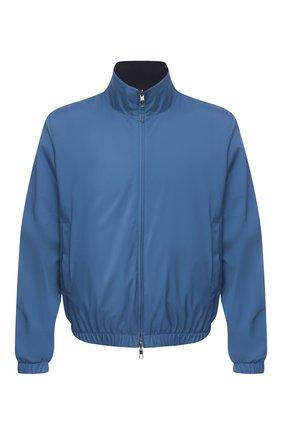 Мужской двусторонний бомбер LORO PIANA синего цвета, арт. FAF8466   Фото 1 (Материал внешний: Синтетический материал; Принт: Без принта; Длина (верхняя одежда): Короткие; Рукава: Длинные; Материал утеплителя: Шерсть; Стили: Кэжуэл; Кросс-КТ: Куртка; Мужское Кросс-КТ: Верхняя одежда)