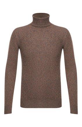 Мужской кашемировый свитер LORO PIANA коричневого цвета, арт. FAG3513 | Фото 1