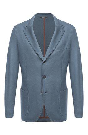 Мужской кашемировый пиджак LORO PIANA бирюзового цвета, арт. FAI2695 | Фото 1