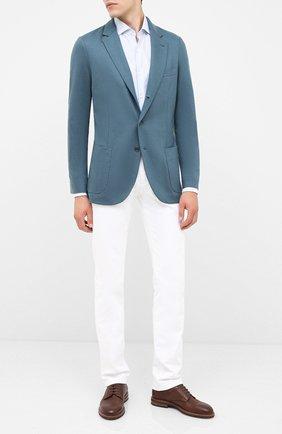 Мужской кашемировый пиджак LORO PIANA бирюзового цвета, арт. FAI2695 | Фото 2