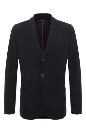 Мужской шерстяной пиджак LORO PIANA темно-синего цвета, арт. FAI7802 | Фото 1