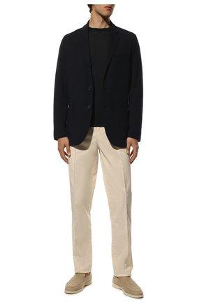 Мужской шерстяной пиджак LORO PIANA темно-синего цвета, арт. FAI7802 | Фото 2