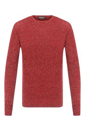 Мужской кашемировый свитер LORO PIANA красного цвета, арт. FAG3511 | Фото 1
