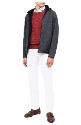 Мужской кашемировый свитер LORO PIANA красного цвета, арт. FAG3511 | Фото 2