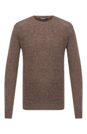 Мужской кашемировый свитер LORO PIANA коричневого цвета, арт. FAG3511 | Фото 1