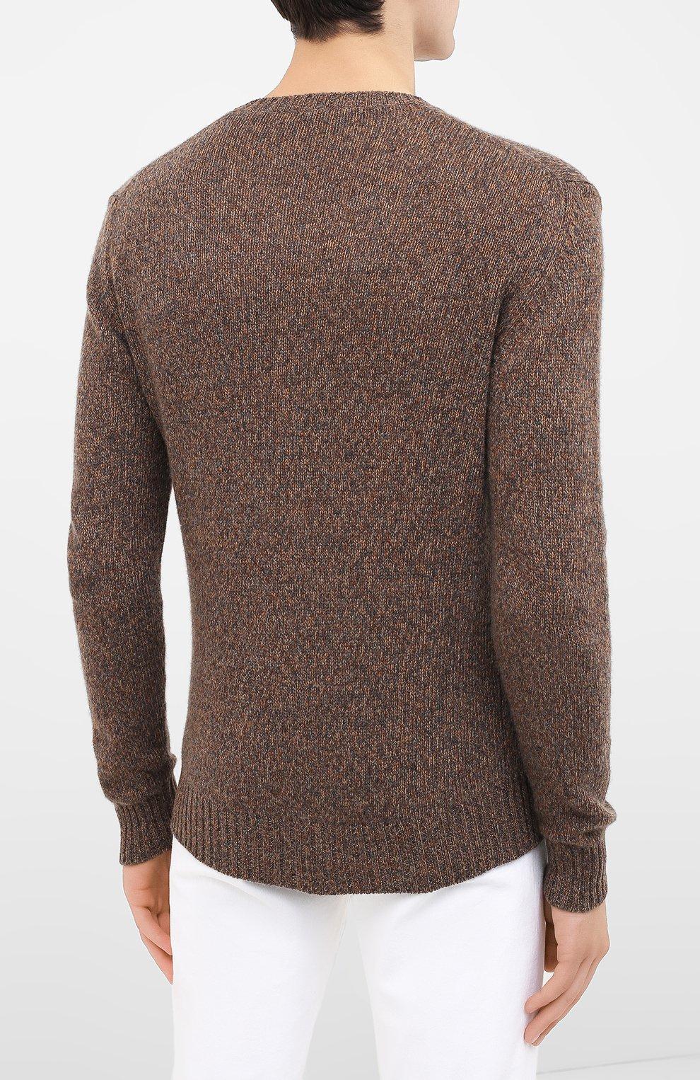 Мужской кашемировый свитер LORO PIANA коричневого цвета, арт. FAG3511 | Фото 4