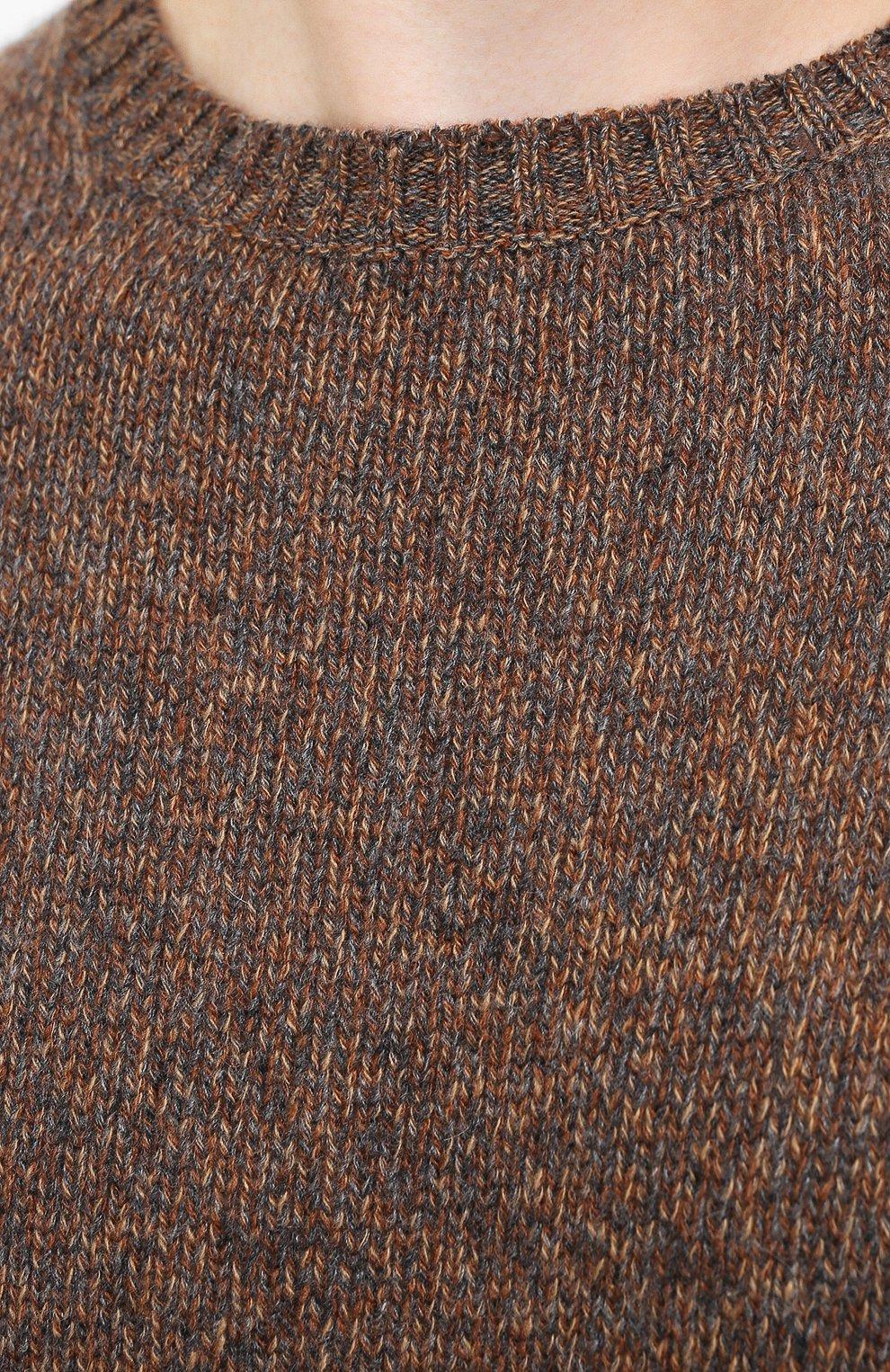 Мужской кашемировый свитер LORO PIANA коричневого цвета, арт. FAG3511 | Фото 5