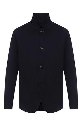 Мужской кашемировый пиджак LORO PIANA темно-синего цвета, арт. FAL2980 | Фото 1