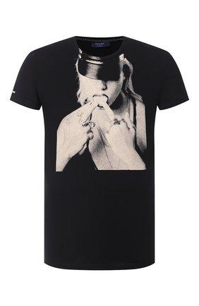 Мужская хлопковая футболка RELIGION черного цвета, арт. 10BKNF02 | Фото 1
