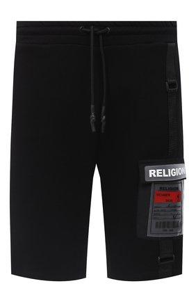 Мужские хлопковые шорты RELIGION черного цвета, арт. 10T0FP77 | Фото 1