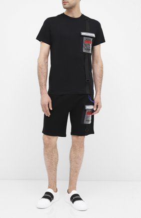 Мужские хлопковые шорты RELIGION черного цвета, арт. 10T0FP77 | Фото 2