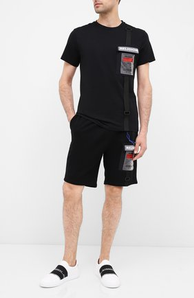 Мужская хлопковая футболка RELIGION черного цвета, арт. 10T0FF02 | Фото 2