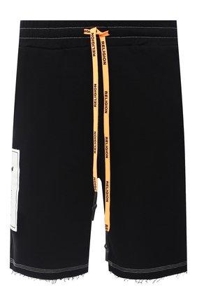 Мужские хлопковые шорты RELIGION черного цвета, арт. 10PMNP77 | Фото 1