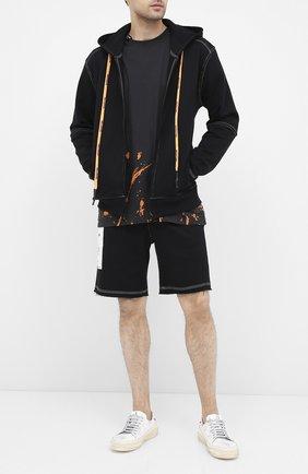 Мужская хлопковая толстовка RELIGION черного цвета, арт. 10PMNJ83 | Фото 2