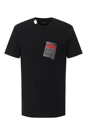 Мужская хлопковая футболка RELIGION черного цвета, арт. 10BMBG95 | Фото 1