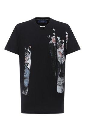 Мужская хлопковая футболка RELIGION черного цвета, арт. 10BBFG95 | Фото 1