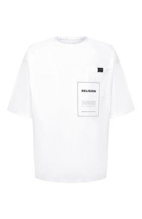 Мужская хлопковая футболка RELIGION белого цвета, арт. 10B0VG29 | Фото 1