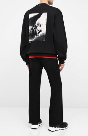 Мужские джинсы NEIL BARRETT черного цвета, арт. PBDE309/P801T | Фото 2