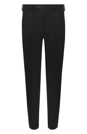 Мужской хлопковые брюки NEIL BARRETT черного цвета, арт. PBPA802/P023 | Фото 1