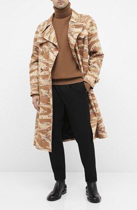 Мужской хлопковые брюки NEIL BARRETT черного цвета, арт. PBPA802/P023 | Фото 2