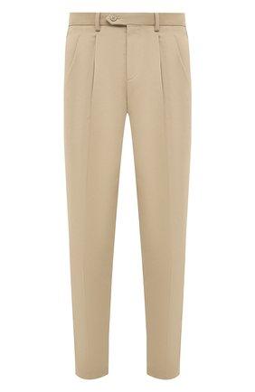 Мужской хлопковые брюки NEIL BARRETT бежевого цвета, арт. PBPA802/P023 | Фото 1