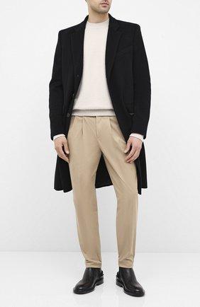 Мужской хлопковые брюки NEIL BARRETT бежевого цвета, арт. PBPA802/P023 | Фото 2